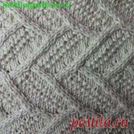 Knitting by spokes for women the Parquet