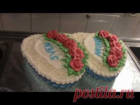 """La torta de boda \""""Dos corazones\"""""""