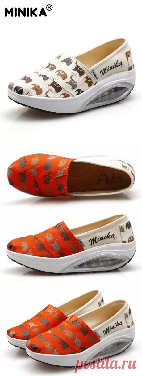 Minika увеличивающие рост Обувь для танцев С Рисунком Слона Для женщин для похудения на танкетке женская повседневная обувь Обувь для девочек Красота Фитнес здоровья обуви купить на AliExpress