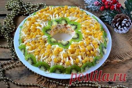 Новогодний салат Золотое гнездо - Кулинария онлайн