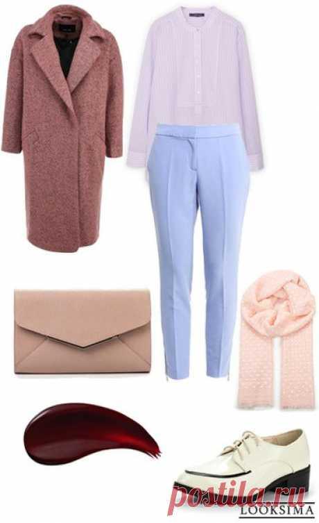 Стильный и уютный образ в модных пастельных тонах #looksimaFashion #style #instalook #lookoftheday #модныйобраз #стиль