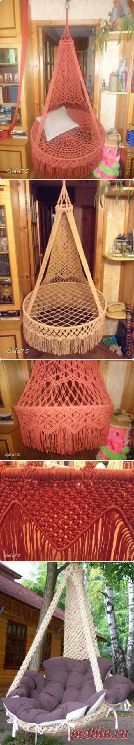Weaving master class a chair hammock in style of a macrame