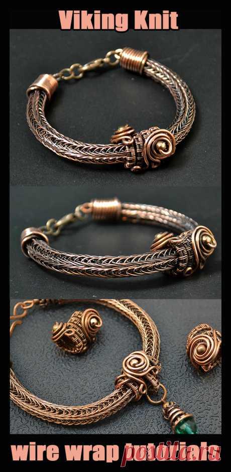 Браслеты, ожерелья Викинг из проволоки - Viking Knit. Плетение украшений из проволоки в технике Wire Wrap. Видео, мастер классы, уроки для начинающих мастеров рукоделия.