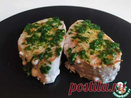 Стейк из тунца с чесночным соусом - Поварёнок с лучшими рецептами - медиаплатформа МирТесен Стейк из тунца можно приготовить самыми разными способами. В этот раз, я предлагаю - с чесночным соусом.