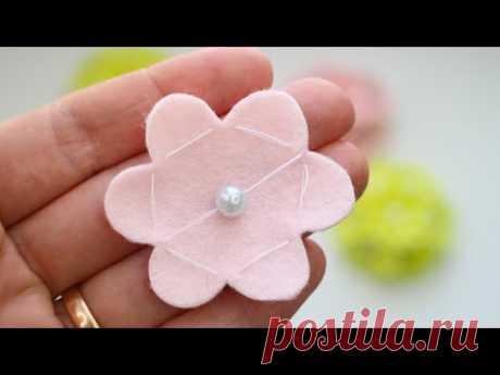 Чудесные Букетики 💗💗💗 Очень ПРОСТО 💗 Цветы Из Фетра Рукоделие