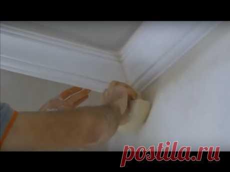 Как правильно вырезать углы на багетах (потолочный плинтус)