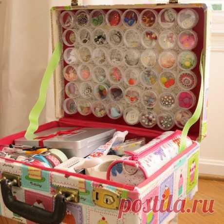 Чудесные чемоданчики для рукодельниц — Сделай сам, идеи для творчества - DIY Ideas