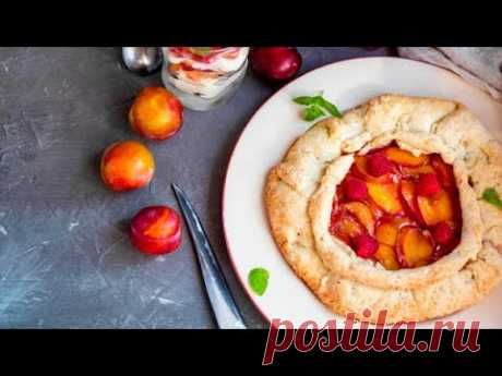 Пирог со сливами - наш семейный рецепт / Галета со сливами