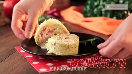Рулет из кабачков с сыром - бюджетное и потрясающе вкусное блюдо для встречи гостей!