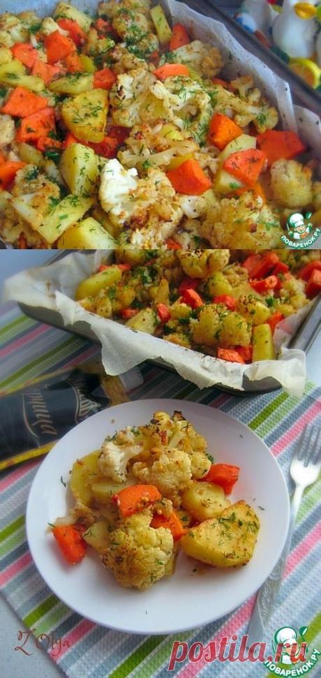 Овощи в медово-горчичной заливке – кулинарный рецепт