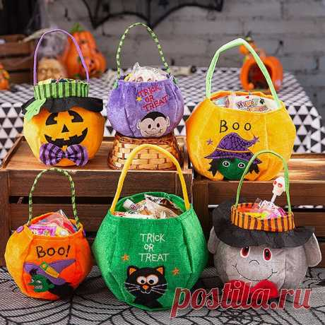 Children Halloween Style Pattern Casual Go Out Candy Sugar Carry Bag Handbag - US$9.99
