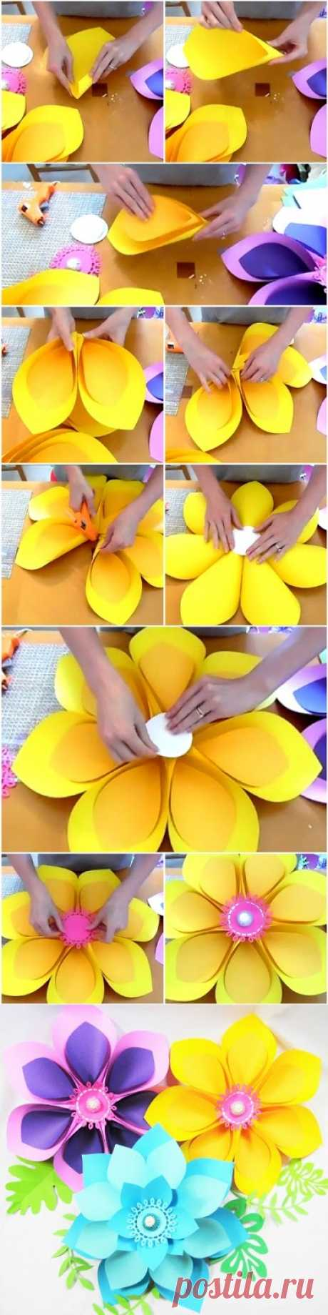 Posts search paper flowers mamas gone crafty how to make giant hawaiian paper flowers izmirmasajfo Gallery