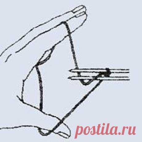 Турецкий набор петель Турецкий набор петель Край с открытыми петлями, используют в том случае, если необходимо в дальнейшем продолжить вязание в противоположном направлении. Набор производят двумя спицами одинаковой толщины, одна из которых — нижняя — с леской.Нить располагают на пальцах левой...