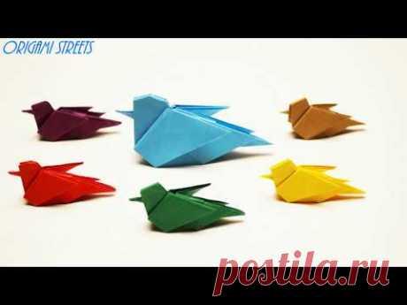 Оригами птица из бумагиоригами видео