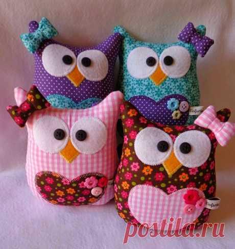 Декоративные подушки в виде совы