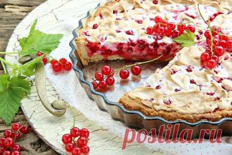 Пирог с красной смородиной: 9 рецептов