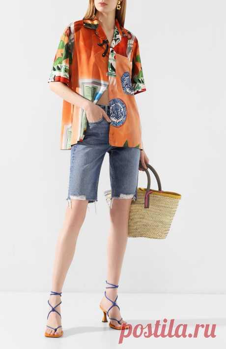 Женская разноцветная рубашка из вискозы JACQUEMUS — купить за 19700 руб. в интернет-магазине ЦУМ, арт. 205SH21/1905W