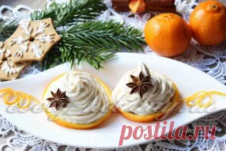 Сливочно-творожный крем с апельсинами - рецепт с фото