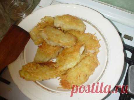 Морской язык в картофельной стружке | Четыре вкуса