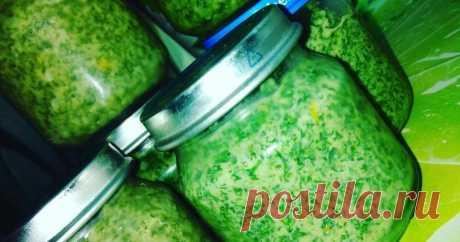 Укропная приправа с чесноком и маслом - подходит для любых блюд. Мой рецепт | Вкусно и полезно | Яндекс Дзен