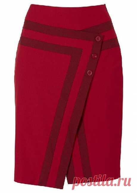 Интересный фасон прямой юбки. Выкройка (Шитье и крой) – Журнал Вдохновение Рукодельницы