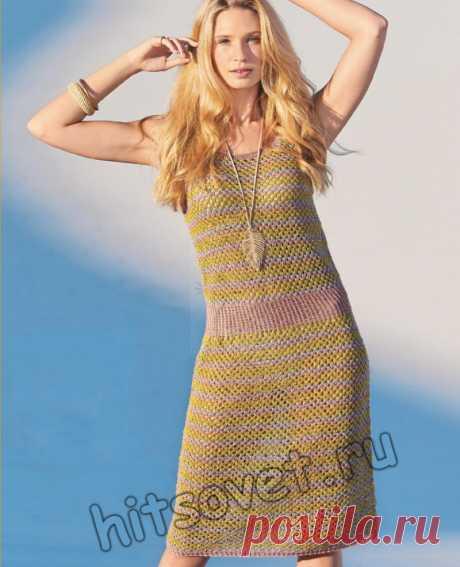 Модное вязаное платье из конопли - Хитсовет