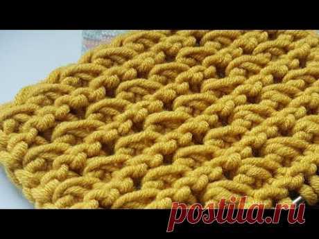 """Филигранная рельефность. Узор спицами """"Волны"""" 📣 knitting pattern."""