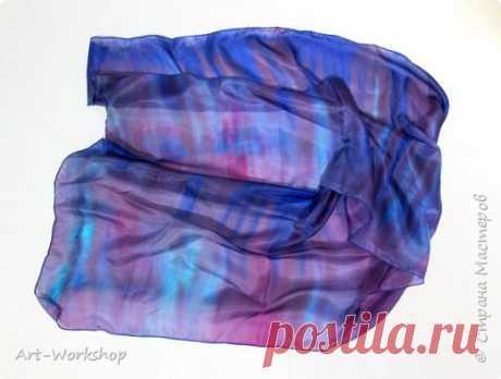 Роспись по шелковой ткани в технике свободной росписи | Страна Мастеров