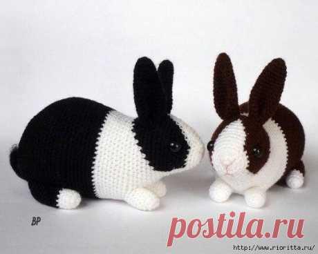 Кролики вязаные