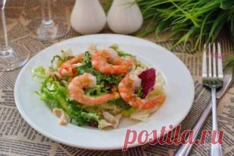 Салат из кальмаров и креветок - пошаговый рецепт с фото на Повар.ру