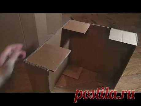 Мастер-класс смотреть онлайн: Создаём декоративный камин из картона | Журнал Ярмарки Мастеров
