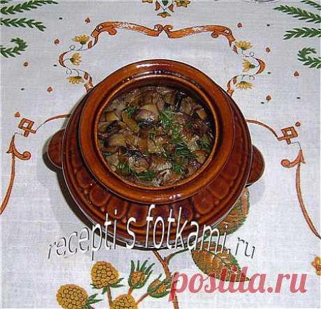Мясо с грибами и фасолью в горшочках.