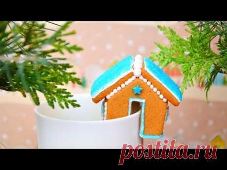 Имбирное печенье Маленькие домики на кружку