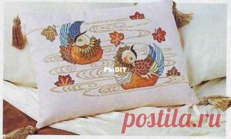 Mandarin Ducks by Stitch shop XSD-Вышивка крестиком Связь / загрузка (только ответ) -Выкройки для вышивки крестиком Repaint-PinDIY.com