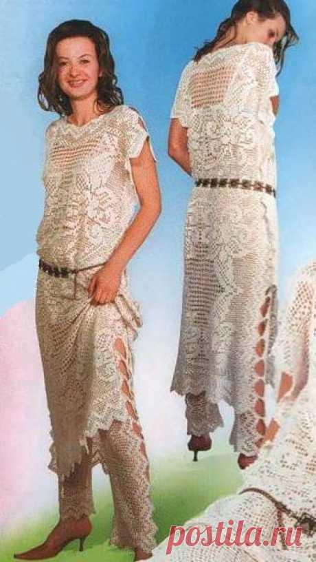 Платье из салфетки.