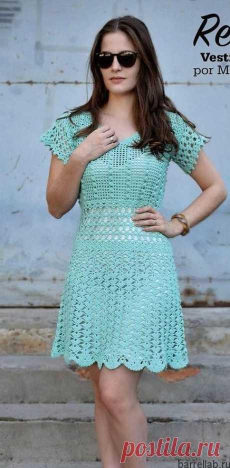 Ажурное платье крючком, Больше 20 схем и идей для вязания!