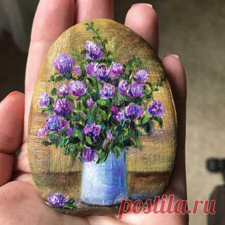 Роспись камней. Красивые идеи.