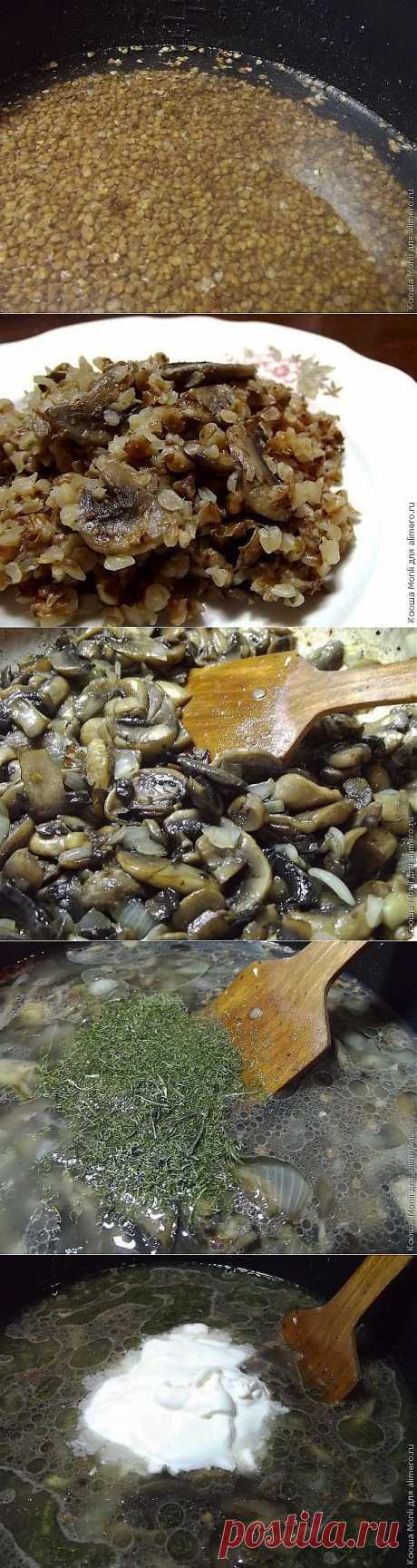 Гречневая каша с грибами / Рецепты с фото