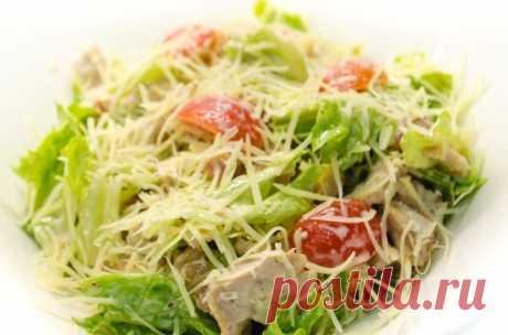 «Цезарь» - рецепт салата с курицей и сухариками