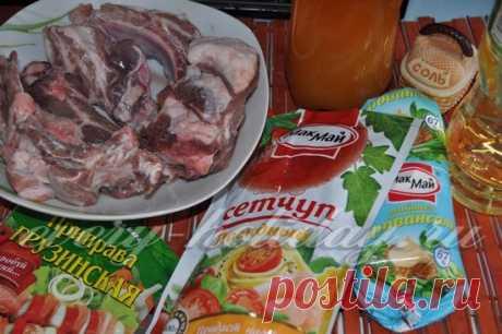 Свиные ребрышки в соусе барбекю в духовке, рецепт
