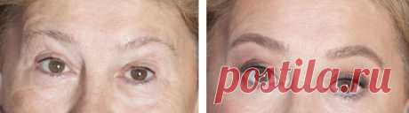 Очень редкие брови после 50-60 и старше: как грамотно оформить, чтобы они смотрелись как свои | О макияже СмиКорина | Яндекс Дзен