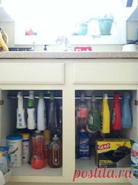 Гениальные способы хранения вещей в доме  21 идея