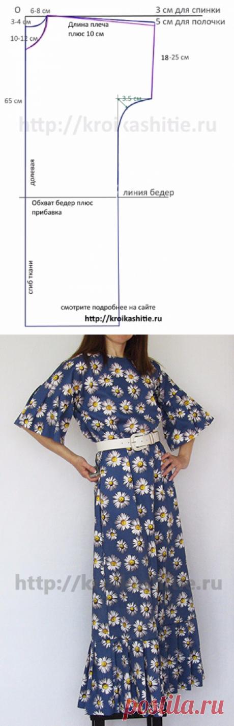 Шьем очень простое и удобное платье. Мастер-класс
