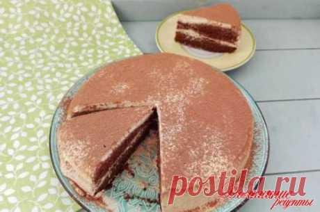Просто восхитительный шоколадно-кофейный торт. Для приготовления торта я использовала крем по этому рецепту   Такой торт отлично подойдет и к чаю, и к кофе.