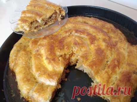 Ֆիլո խմորով կարկանդակ / пирог из тесто фило / filo pastry pie