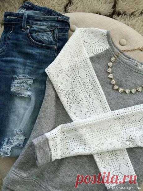 Обновляем одежду: идеи для блузок и футболок . Милая Я