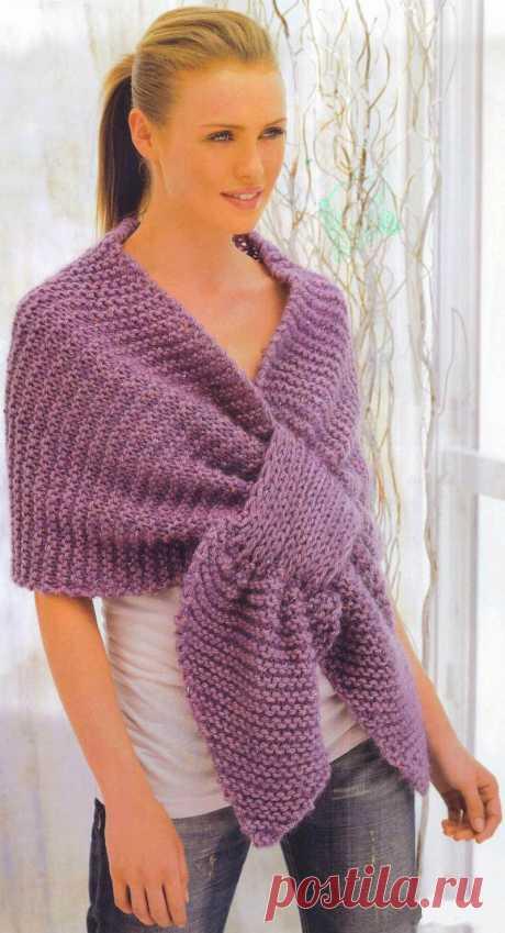 Сиреневый шарф | Шкатулочка для рукодельниц