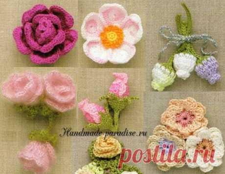 100 цветов крючком. Схемы - Handmade-Paradise