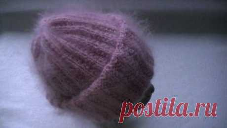Вязание шапки из мохера с двойным отворотом узором польская резинка. https://www.instagram.com/nataknits_1/ группа в контакте https://vk.com/club109334103 спицы купить https://ali.pub/xo9ji крючки купить https://ali.pub/y04m