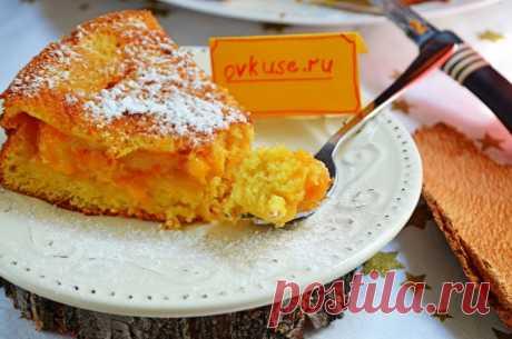 El bizcocho con los albaricoques - las recetas Simples Овкусе.ру